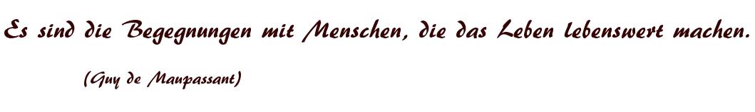 Begegnungen deutsch